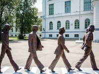 В Томске появился памятник  The Beatles, копирующий знаменитое фото с обложки альбома Abbey Road