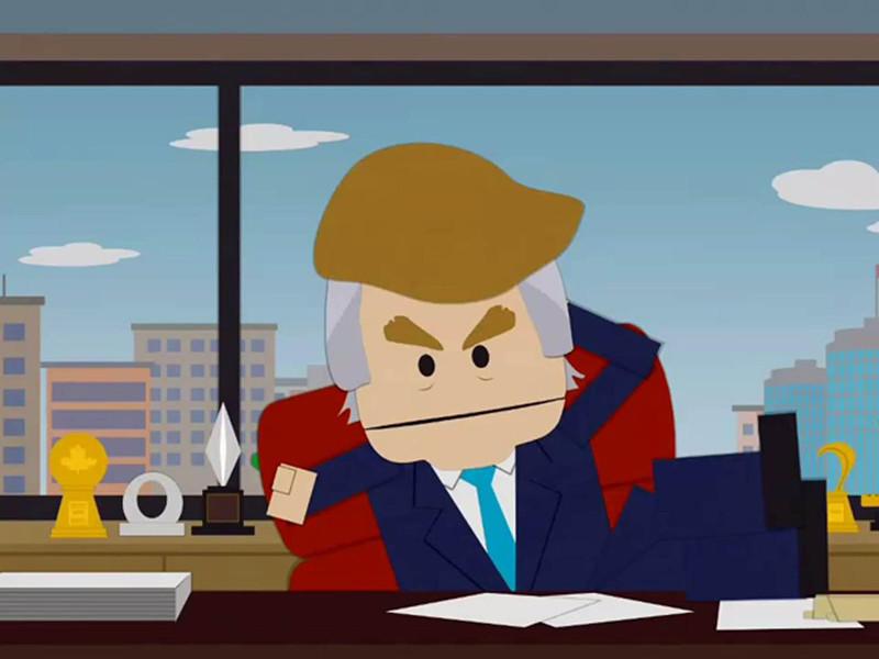 """Трой Паркер, который озвучивает четырех главных героев шоу, включая пародию на Трампа, заявил, что """"Южный парк"""" попал в ловушку, превратившись в шоу, в основе которого лежат насмешки над американским лидером"""