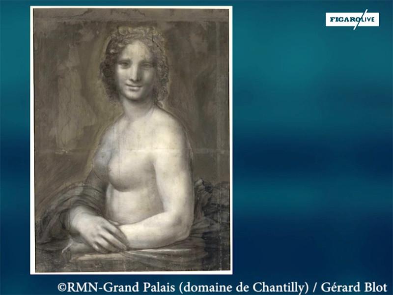 Во Франции найден эскиз Да Винчи, на котором Джоконда голая