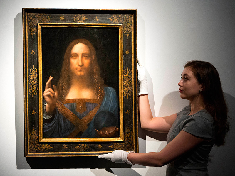 """Купленный саудовским принцем """"Спаситель мира"""" Леонардо да Винчи едет в Абу-Даби"""