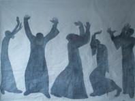 """В Москве открывается выставка Дюди Сарабьянова """"Сила"""" - с черно-белыми образами афонских монахов"""