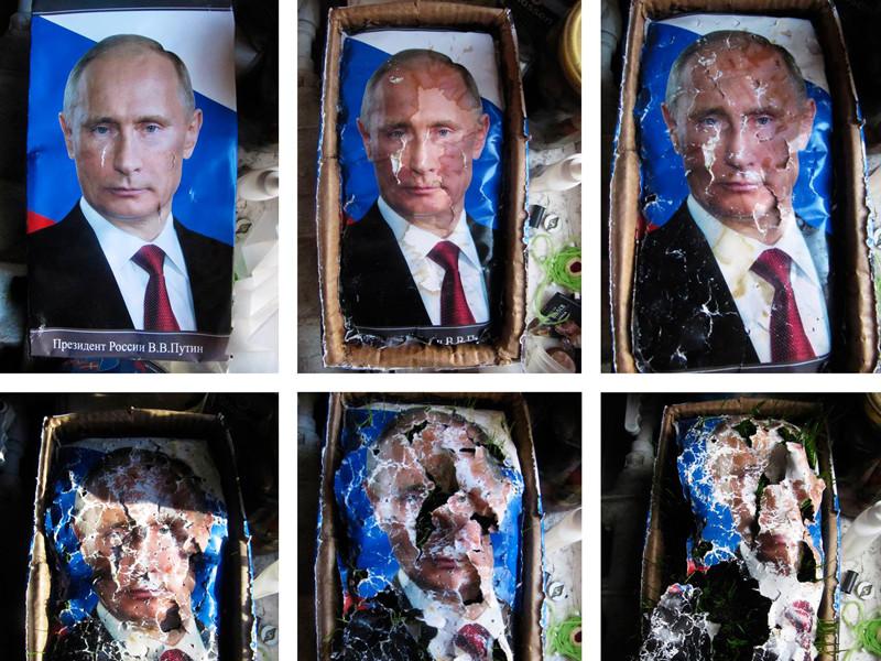 Суд Петербурга постановил уничтожить картину про разложение Путина и выписал ее владелице штраф в 160 тысяч