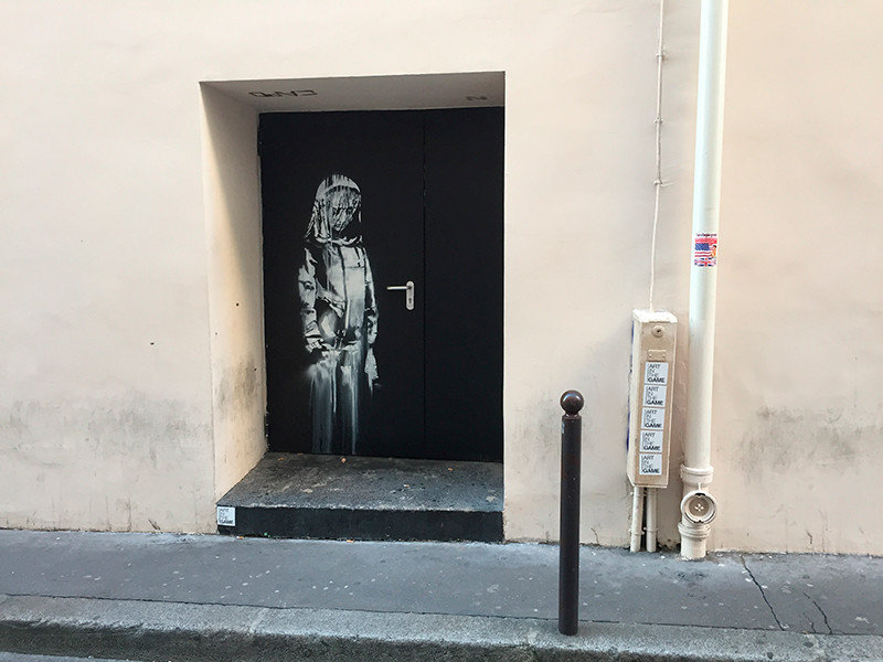 В Париже за несколько дней обнаружили семь новых работ Бэнкси