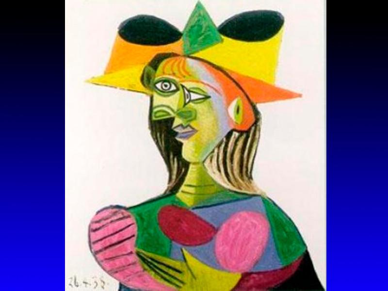"Картина Пабло Пикассо ""Бюст женщины"", 1938 год"