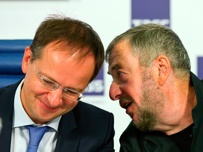 Владимир Мединский( на фото - слева) и Павел Лунгин