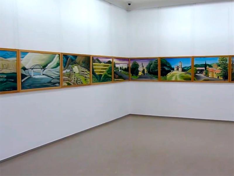 """Немецкий художник дописывает самую длинную картину в мире под названием """"Картина мира"""" - 190 метров. Россию символизирует мечеть  (ФОТО)"""