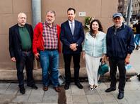 Церемония установки мемориального знака прошла в 68-ю годовщину расстрела на Лубянке поэта Маркиша и 12 других членов Еврейского антифашистского комитета (ЕАК)