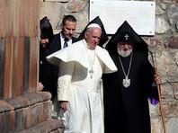 Папа Франциск вместе с армянским католикосом Гарегином выпустил голубей мира в сторону Турции