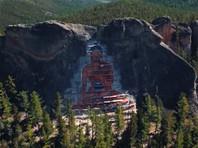 Гигантское изображение Будды вырубили на скале в Бурятии