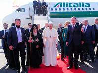"""Православные намерены преследовать прилетевшего в Грузию Папу Римского, пока он не """"отречется от ереси"""""""