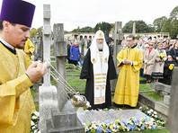 В Лондоне патриарх Кирилл освятил Успенский собор и надгробие на могиле митрополита Сурожского Антония