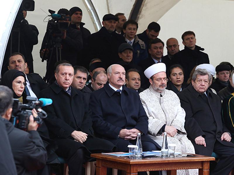 Президент Турции Эрдоган открыл в столице Белоруссии первую мечеть в присутствии своего друга Лукашенко