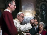 Папа Франциск впервые в истории посетил англиканскую церковь в Риме