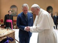 Принц Чарльз подарил Папе Франциску еду для бедных и свое фото с Камиллой в красивой рамке