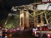 В Нью-Йорке сгорела старейшая синагога, построенная евреями из России (ВИДЕО)