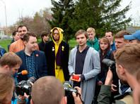 Блогер Руслан Соколовский, обвиняемый в возбуждении вражды и оскорблении чувств верующих за игру в Pokemon Go в Храме-на-Крови, после оглашения приговора в Верх-Исетском районном суде Екатеринбурга. Блогера приговорили к 3,5 годам условного заключения