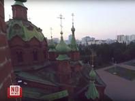 Полиция вычисляет юных любителей паркура, забравшихся на крышу храма в центре Челябинска (ВИДЕО)