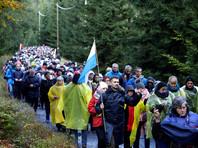 Поляки массово помолились на границе страны о спасении христианства