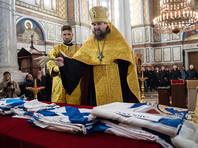 В Крыму освятили Андреевские флаги кораблей Черноморского флота