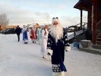 В Екатеринбурге Деды Морозы и Снегурочки помолились на молебне