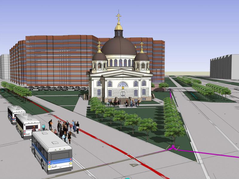 Храм св. прп. Сергия Радонежского в Приморском районе