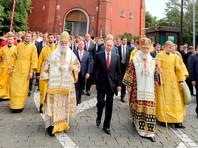 Президент Владимир Путин в субботу принял участие в праздничных мероприятиях по случаю 1030-летия крещения Руси