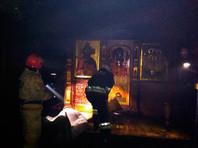 В Свердловской области загорелся храм на Ганиной Яме
