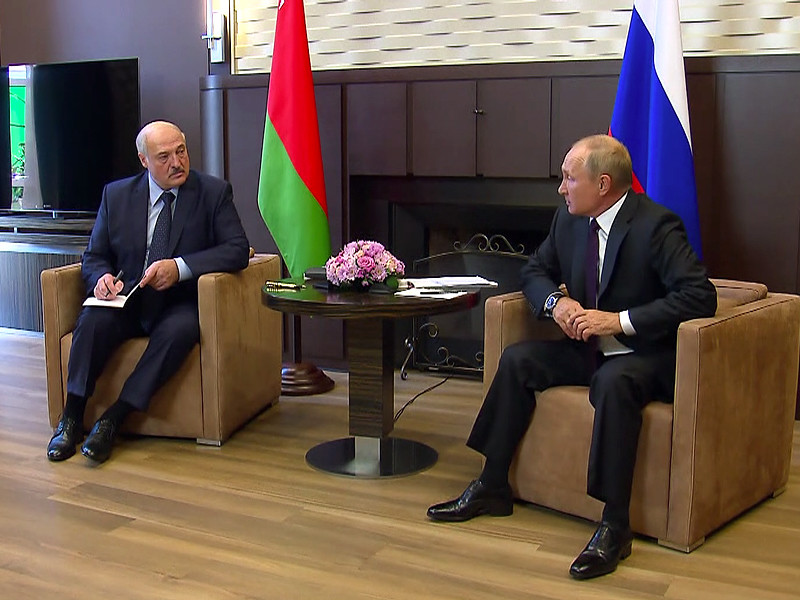 Александр Лукашенко и Владимир Путин, 14 сентября 2020 года