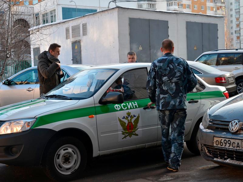 Алексей Навальный и сотрудники ФСИН, декабрь 2014 года