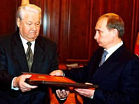 Борис Ельцин и Владимир Путин, 31 декабря 1999 года