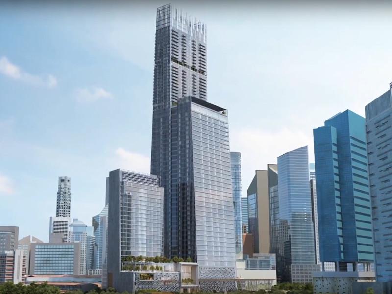 Выставленный на продажу пентхаус занимает верхние этажи 290-метрового Tanjong Pagar Centre, самого высокого здания в Сингапуре