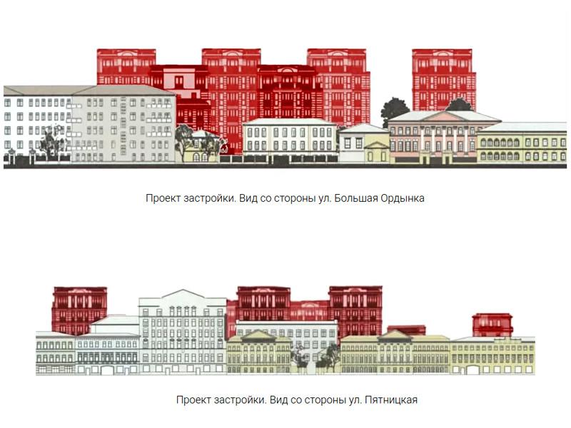 Жители московского района Замоскворечье выступили против строительства элитного жилого комплекса на Пятницкой улице. По мнению активистов, новый ЖК изуродует исторический облик улицы
