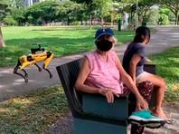 Робота SpotMini привлекли к патрулированию парка в Сингапуре