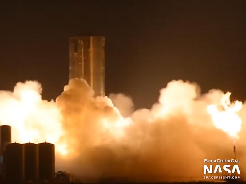Прототип корабля Starship компании SpaceX прошел огневые испытания