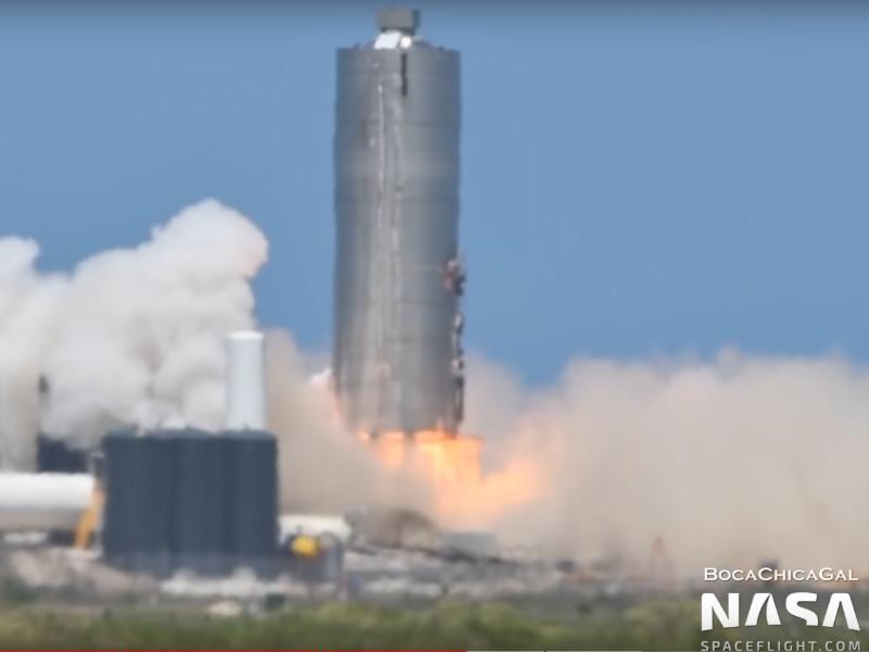 Очередной прототип корабля Starship компании SpaceX прошел огневые испытания