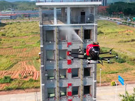 Компания EHang представила пожарный дрон, способный бороться с огнем в небоскребах (ВИДЕО)