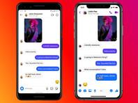 Facebook объединила чаты в Messenger и Instagram для некоторых пользователей