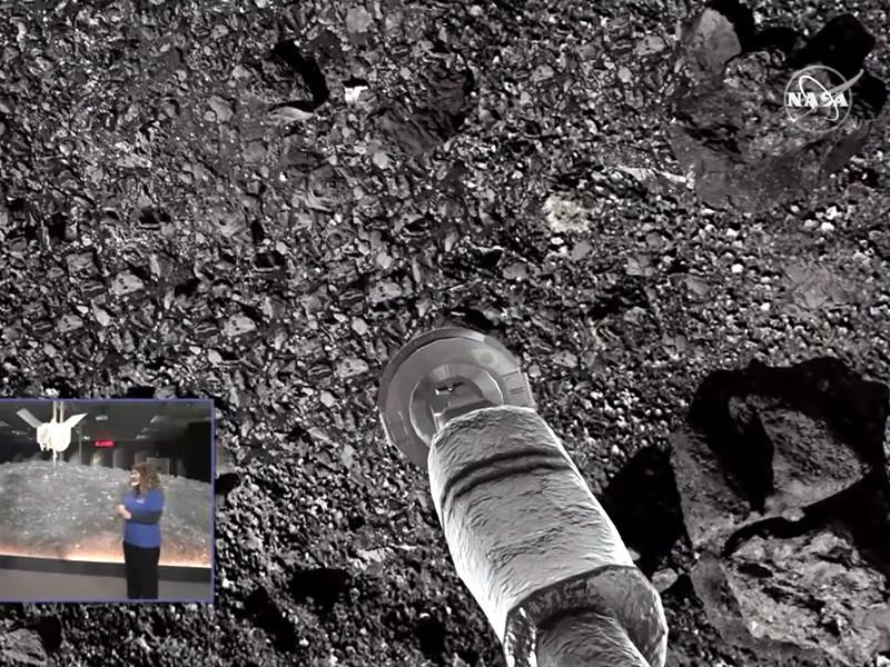 Космический зонд OSIRIS-REx попытался забрать образцы грунта с астероида Бенну