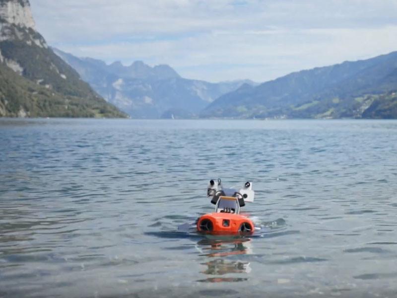 Швейцарский робот ANYmal C искупался в озере