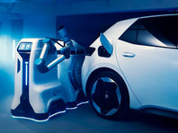 Компания Volkswagen показала прототип робота для зарядки электромобилей (ВИДЕО)