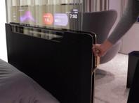 Компания LG Display показала прототип прозрачного телевизора, встроенного в изножье кровати (ВИДЕО)