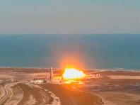 "Прототип корабля Starship снова взорвался при посадке после ""прыжка"" на 10 километров (ВИДЕО)"