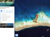 50-летняя Джолин Валтаггио при помощи сервиса Google Maps обнаружила в Тихом океане небольшой остров, напоминающий по форме пенис