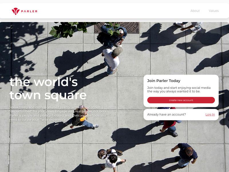 Американская соцсеть Parler возобновила работу после отключения от хостинга Amazon