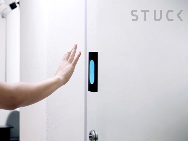 По-джедайски: в Сингапуре создали бесконтактную дверь, которую можно открыть жестом