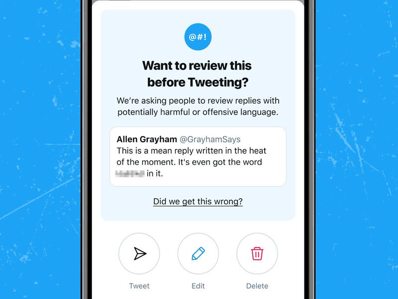 Twitter начнет предупреждать пользователей об оскорбительном характере сообщений перед отправкой