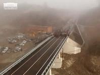 В Северной Осетии после дождей треснул новый мост стоимостью полмиллиарда рублей