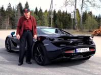 78-летний норвежец купил суперкар McLaren 720S Spider (ВИДЕО)