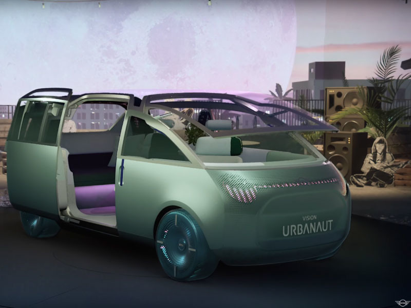 Mini показала свое видение автомобиля будущего. Это электрический однообъемник с подъемным лобовым стеклом (ВИДЕО)