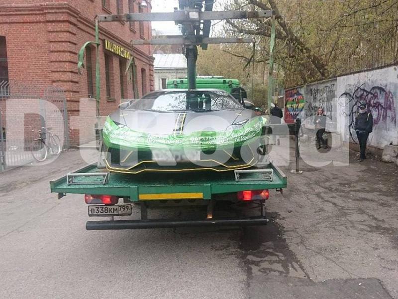 В Москве снова эвакуировали Lamborghini Aventador телеведущей Анастасии Ивлеевой